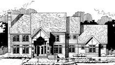 Contemporary-Modern House Plan with 4424 Square Feet and 4 Bedrooms from Dream Home Source | House Plan Code DHSW69760