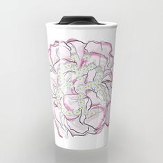 Butterfly flower Travel Mug
