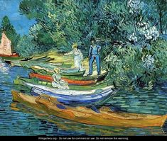 Vincent van Gogh Bank of the Oise at Auvers painting for sale - Vincent van Gogh Bank of the Oise at Auvers is handmade art reproduction; You can buy Vincent van Gogh Bank of the Oise at Auvers painting on canvas or frame. Art Van, Van Gogh Art, Vincent Van Gogh, Desenhos Van Gogh, Van Gogh Pinturas, Van Gogh Paintings, Canvas Paintings, Van Gogh Museum, Fine Art