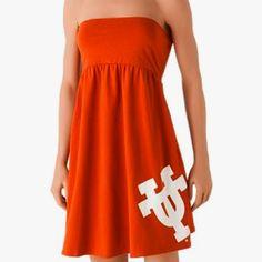 Longhorns(; #burnt #orange #dress     Re-Pinned by http://high5collegeclub.com