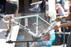 Bike-Washing Tips From the Pros  http://www.bicycling.com/repair-maintenance/bike-washing-tips-pros