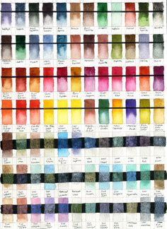 Felicia Cano's Blog: Watercolor Test Charts for Daniel Smith Paint