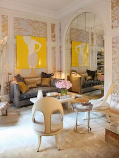 Carrier & Company's Chic Sitting Room