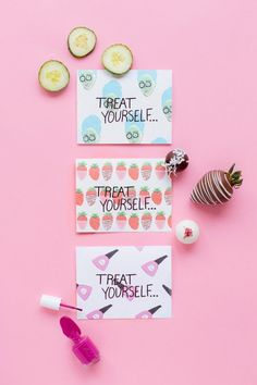 """Treat Yourself"" Mother's Day Printables + Sweets 