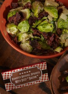 Brussels Sprouts with Kosher Beef Bacon