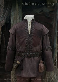 "Available on Etsy We finished work on the jacket based on TV series ""Vikings"". For a basis was taken the one of the Ragnar's jackets , however, the customer wanted to make ..."