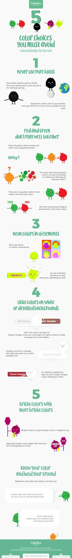 Infographic: Five Color Choices To Avoid When Designing For The Web - DesignTAXI.com
