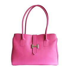 H-Lock Italian Pink Leather Shoulder Bag - Down to £49.99 from £59.99