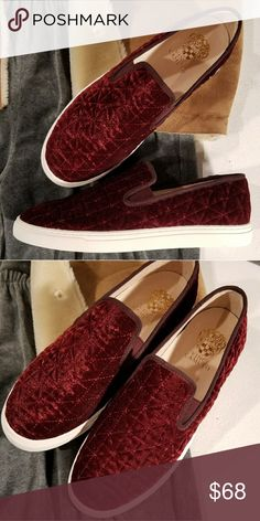 00d0bfe2aeda New Vince Camuto cranberry velvet sneakers Omg. So cute quilted velvet  sneakers From Vince Camuto