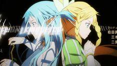 Spellbinding Asuna and Leafa Alfheim Online S. Sao Anime, Otaku Anime, Manga Anime, Leafa Sao, Kirito Asuna, Sword Art Online Asuna, Arte Online, Online Art, Musaigen No Phantom World