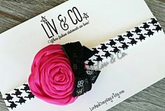 Check out this item in my Etsy shop https://www.etsy.com/listing/249569884/the-greta-fuchsia-and-houndstooth-baby