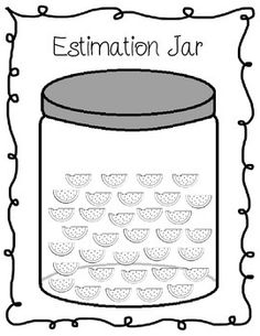 FREE! Estimation Jar! Review estimation, greater than/less than and skip counting!