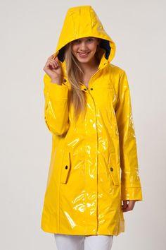Yellow PVC Hooded Raincoat