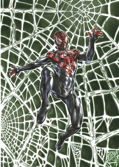 Ultimate spiderman myles morales made a few ago with markers arte art marvel superhero web comics comic comicart Myles was created by and Peter Spiderman, Spiderman Web, Amazing Spiderman, Marvel Avengers, Marvel Comics, Sara Pichelli, Ben Reilly, Miles Morales Spiderman, Scarlet Spider