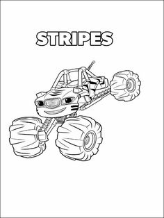 Blaze and the Monster Machines Coloring Pages 10