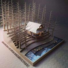 Architect model House Model by Ivan Fernando Kalalo in Indonesia Maquette Architecture, Architecture Model Making, Architecture Student, Architecture Drawings, Landscape Architecture, Interior Architecture, Architecture Diagrams, Landscape Model, Landscape Design