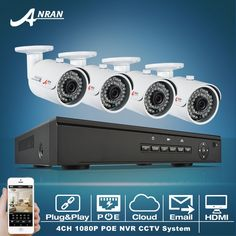 410.41$  Buy here - http://aibl2.worlditems.win/all/product.php?id=32805663592 - Plug And Play 48V 4CH NVR POE Video Surveillance Security System Onvif 1080P 4pcs HD 36 IR Outdoor POE IP Camera CCTV Kit