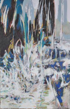SELJALANDSFOSS II 2013 (100 x 65 cm) aquarelle,  brou de noix, pastel à l'huile sur papier  100 x 65 cm