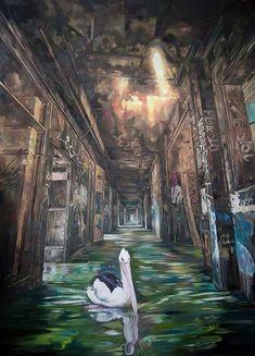 Original Nature Painting by Janusz Orzechowski Oil On Canvas, Canvas Art, Nature Paintings, Figurative Art, Surrealism, Cool Art, Saatchi Art, Original Paintings, Fine Art