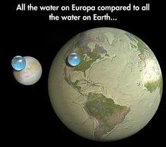 Water on Earth. Water on Europa.