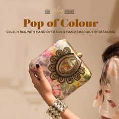 #PopofColour with a collection of #handpainted bags by CRAZY PALETTE only on http://www.theblingstreet.com/designers/crazy-palette