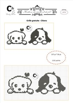 Grille gratuite - Chiens - ATP make with bubble stitch and a paw border Free Cross Stitch Charts, Mini Cross Stitch, Cross Stitch Animals, Cross Stitch Patterns, Knit Baby Sweaters, Baby Hats Knitting, Knitting Charts, Cross Stitching, Cross Stitch Embroidery
