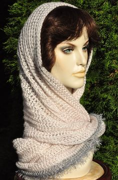 Xmas gift, Hand Knit Scarf, Pink Infinity Scarf, Winter Wrap, Circle Scarf, Loop scarf, Woman Shawl, Knitted Neckwarmer, Gift for women