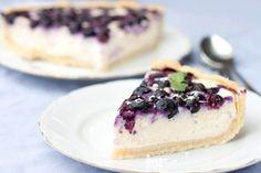 Čučoriedkový cheesecake s bielou čokoládou