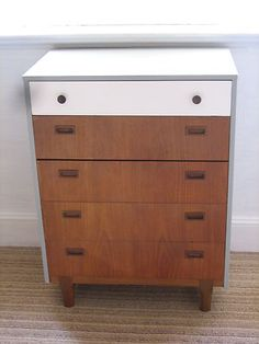 Funky Vintage Retro Furniture Teak Chest Of Drawers By Nathan 50's 60's 70's