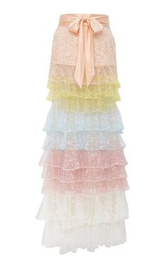 Tiered Sequined Tulle Skirt by Rodarte Kpop Fashion Outfits, Fashion Wear, Cute Fashion, Skirt Fashion, Teen Fashion, Pretty Outfits, Cute Outfits, Simple Kurta Designs, Indian Fashion Dresses