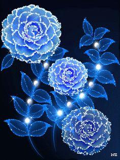 Imagen de rosa con movimiento luminosas