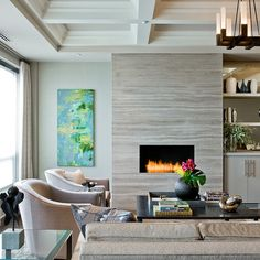 Built In Electric Fireplace Design Ideas, Pictures, Remodel and Decor…