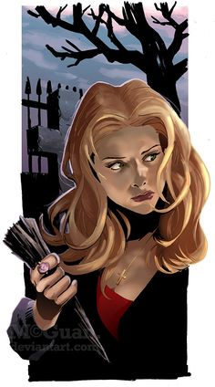Buffy by mcguan on DeviantArt Halloween Artwork, Buffy Summers, Pretty Drawings, Joss Whedon, Buffy The Vampire Slayer, Cultura Pop, Green Day, Cool Pictures, Beautiful Pictures