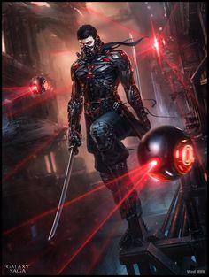 "spassundspiele:  ""Shamash Ninja, regular – Galaxy Saga character concept by Vlad Marica  """