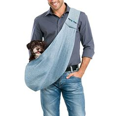FurryFido Reversible Pet Sling Carrier - For Cats Dogs Up To 13+ lbs - Premium Quality Safe And Comfortable Shoulder Bag - Bring Your Pet Along In The Best Pet Travel Accessories (Blue). ✔ SAFE: This pet carrier bag holds your pet easily and it features a safety collar hook to ensure your pet is safe and secure. ✔ REVERSIBLE: With a reversible design, this pet sling bag is not only convenient but looks great inside and out. ✔ CONVENIENT: Easily tote your pets around town or during traveling…