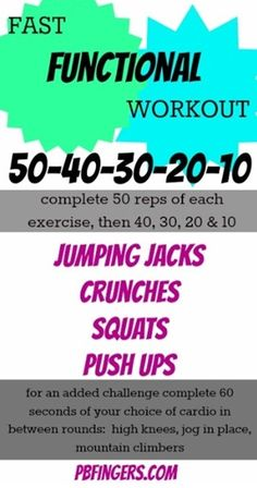 Functional Workout ~ 50-40-30-20-10