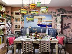 Discover Kit Kemp's Immersive Suite at Bergdorf Goodman - Galerie Mosaic Birdbath, Soft Toys Making, Vogue Living, Global Design, Loft Spaces, Living Spaces, Hand Painted Furniture, Bergdorf Goodman, Elle Decor