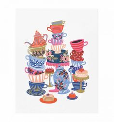 Teacups Art Print by RIFLE PAPER Co. | Made in USA