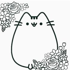 Pusheen 11 one of the most popular coloring page in Pusheen category. Explore more coloring pages like Pusheen 11 from the Coloring. Pusheen Coloring Pages, Jungle Coloring Pages, Cat Coloring Page, Coloring Pages For Girls, Animal Coloring Pages, Coloring Book Pages, Printable Coloring Pages, Coloring For Kids, Coloring Sheets