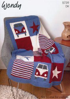 Campervan Blanket and Cushion In Wendy (5739) | Deramores