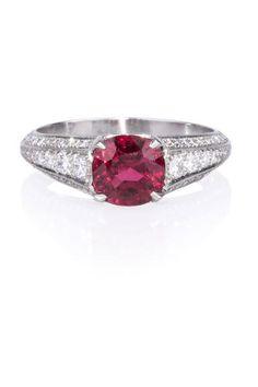 Sebastien Barier Spinel & Diamond Ring