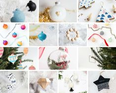 DIY Christmas ornaments for every style. From minimal to modern, here are our favorite tree ornament tutorials to get you inspired. Easy Diy Christmas Gifts, Christmas Items, Diy Christmas Ornaments, Christmas Home, Holiday Crafts, Christmas Tree Box Stand, Red And Gold Christmas Tree, Xmas Theme, Minimal Christmas
