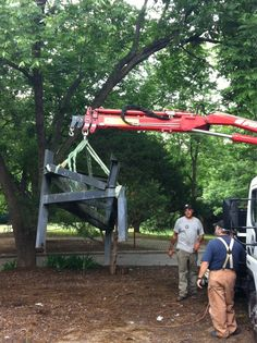 """Twitter / Recent images by @RALPublicArt  """"Square Root of Two"""" by William G Richardson being removed for conservation work."""