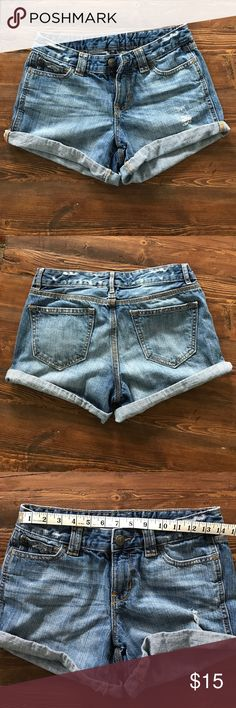 Gap jean shorts Slightly distressed folded bottom gap jean shorts. GAP Shorts Jean Shorts