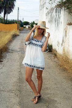 Chapéu de Palha Equatoriana · Shorst  ¿  Vestido Dress  Vintage  Sandalias Sandals  Topshop Sombrero  fc157a2a02e