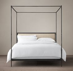 How to Choose Modern Nightstand Ideas from the Master Bedroom Collection - lowesbyte Master Suite, Master Bedroom, Iron Canopy Bed, Canopy Beds, King Size Canopy Bed, Four Poster Bed, Mediterranean Home Decor, Large Bedroom, Modern Bedroom