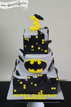 Batman Birthday Cake  (Been there, done that, worn that T-Shirt. And it was AWESOME.)