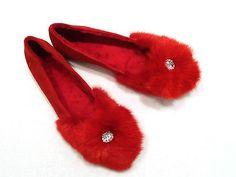 Echt Mink Nerz Fur Pelz Schuhe Ballerinas Wild Leder Rot Red Size 37 Gr 37 TOP in Kleidung & Accessoires, Damenschuhe, Halbschuhe & Ballerinas | eBay