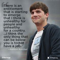 Ashton Kutcher   Some common sense. Thank you.  11/16/13