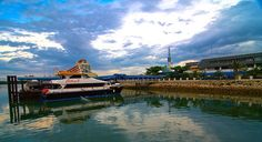 Batam Island, Indonesia ferry terminal. We took the ferry from Singapore for the day.